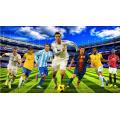 مجسمات نجوم كرة القدم